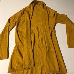 Zara mustard yellow cardigan